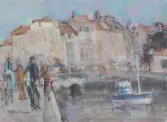 The seaport of La Rochelle in France
