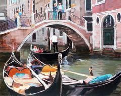 The gondolier in Venise Italy