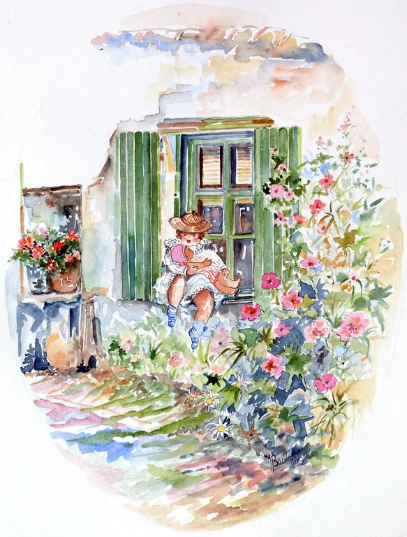 The child at the edge of the window