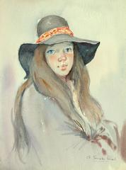 The young lady with the hat