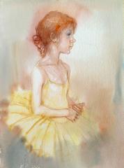 The little ballerina in yellow