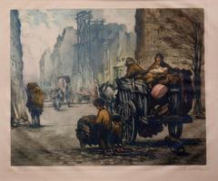 The Sleigh in Paris, large etching