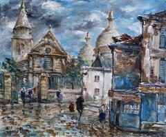 Montmartre, Le Sacré-Coeur et l'Église Saint-Pierre à Paris