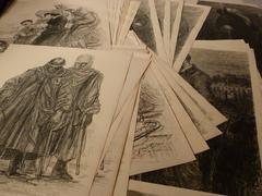 A collection of 500 originals WW1 artworks by various artists
