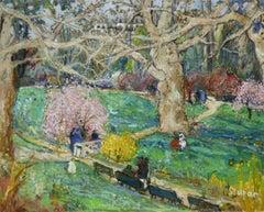 The Garden of Batignolles in Paris, France