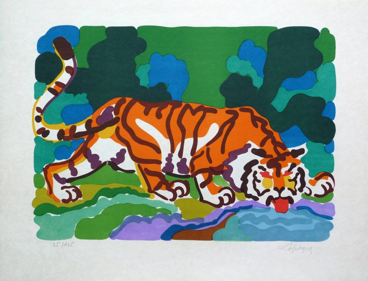 Charles Lapicque Animal Print - The Tiger