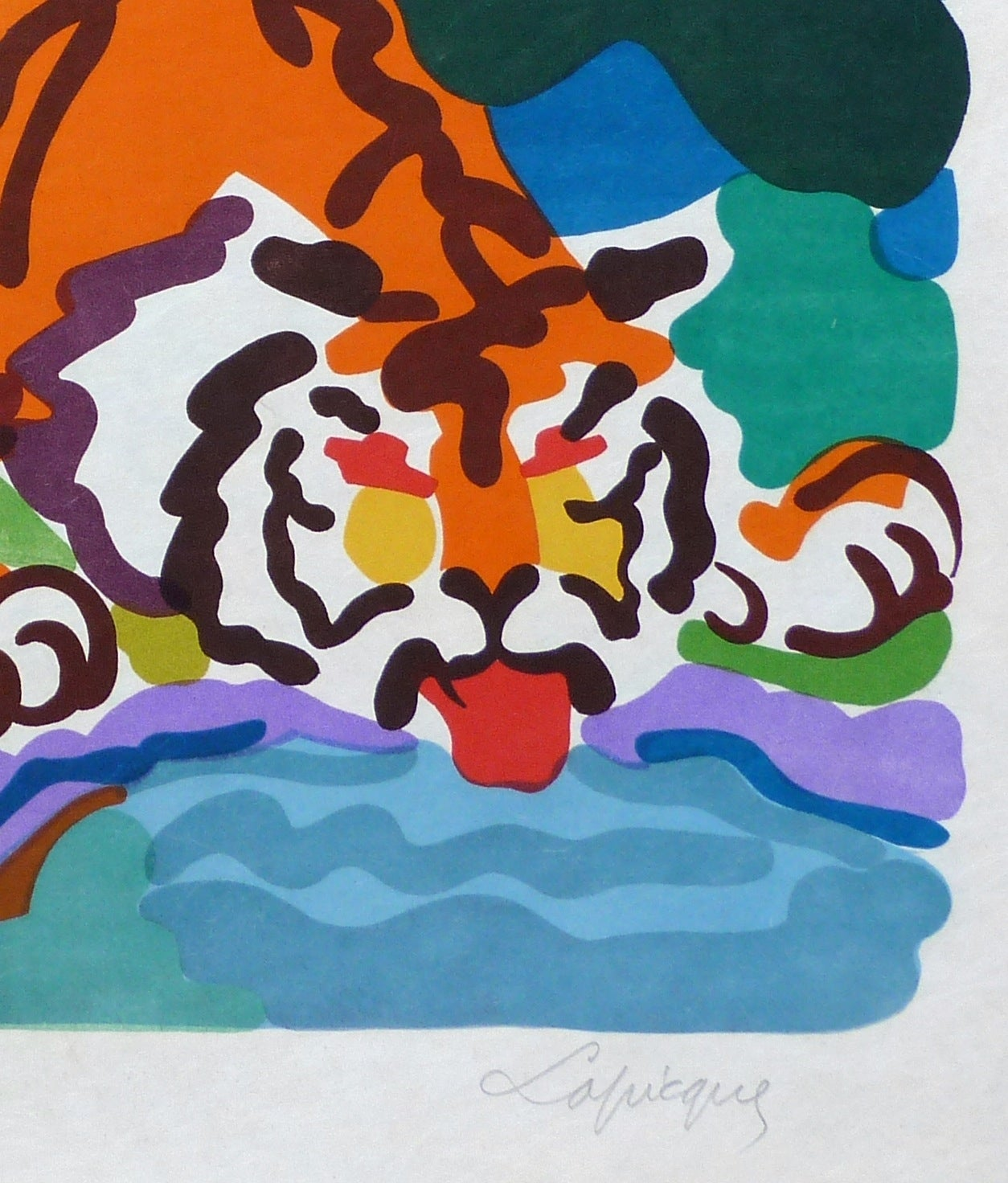 The Tiger - Print by Charles Lapicque
