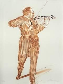 The musician, The violon player