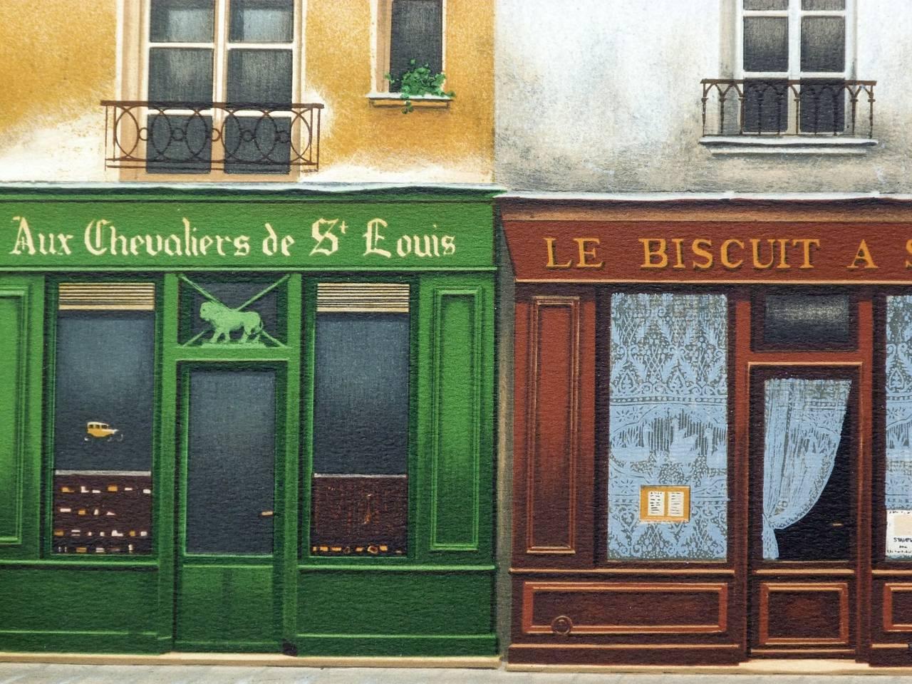 L'Orangerie, Rue Saint-Louis en l'ïle in Paris - Realist Print by André RENOUX