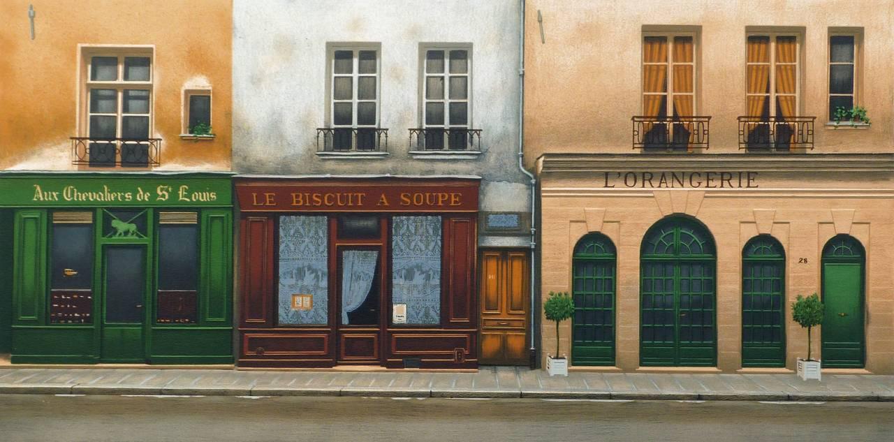 André RENOUX Figurative Print - L'Orangerie, Rue Saint-Louis en l'ïle in Paris