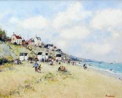Sur la plage dans le Cotentin, France