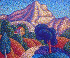 Pointillist Sainte-Victoire Moutain