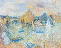 Pointillist Dream near the Seine River in France