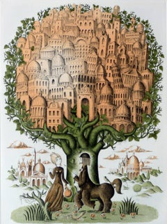 The lovers, the tree, the village