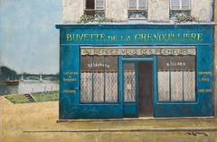 Buvette de la Grenouillère au bord de l'Oise, France