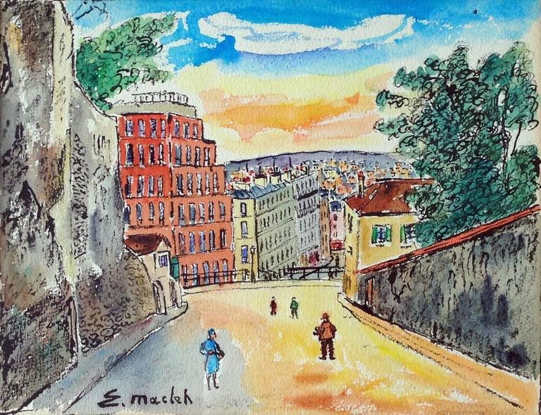 Paris, Montmartre, Rue du Mont Cenis