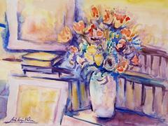 Le vase de fleurs