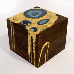 Untitled (Box with Gold Leaf and Agate)