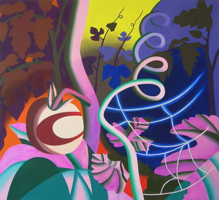 Leigh Ruple Landscape Painting - Garden