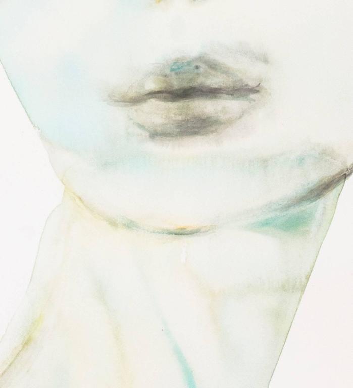 Untitled - Gray Figurative Art by Kim McCarty