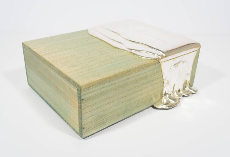 Silver Leaf Pour Box For Sale 2