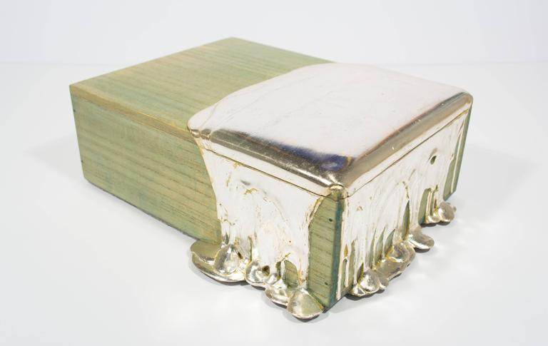 Silver Leaf Pour Box For Sale 3