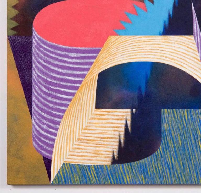 Doodad - Brown Abstract Painting by Nichole van Beek