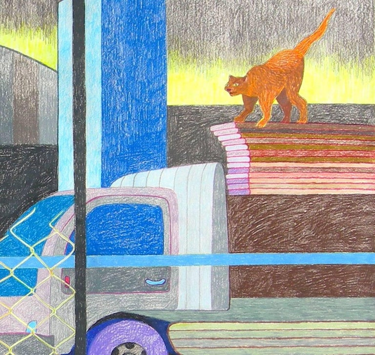 Metropolitan Avenue (Study) - Gray Animal Art by Leigh Ruple