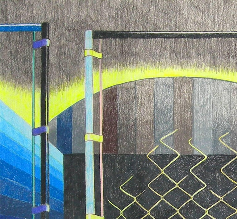 Leigh Ruple's preparatory drawings are artworks unto themselves. A part of her daily practice drawing series that pave the way for her larger paintings on canvas, these pieces visualize the artist's process. Variations in color, compositional