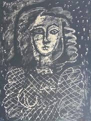 Bust on a Starry Background  Buste au fond étoilé