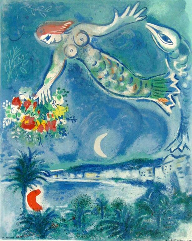 Siren and Fish, from: Nice and the Côte d'Azur  Sirène et Poisso