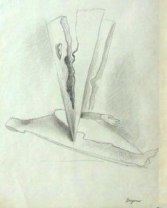 Surrealist composition with Arm (Graphite)