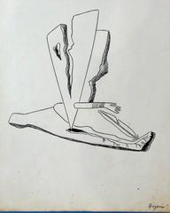 Surrealist composition with Arm (Ink)