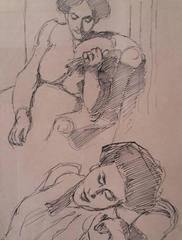 Two Studies of Resting Woman