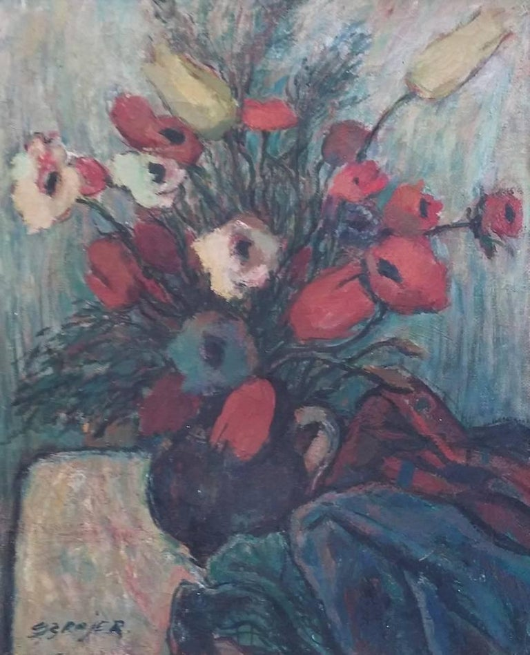 SEWERYN SZRAJER Still-Life Painting - The Flowers