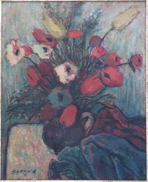 The Flowers - Painting by SEWERYN SZRAJER