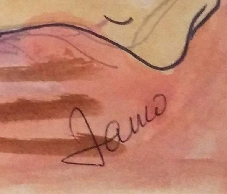 Reclining Nude - Dada Art by Marcel Janco