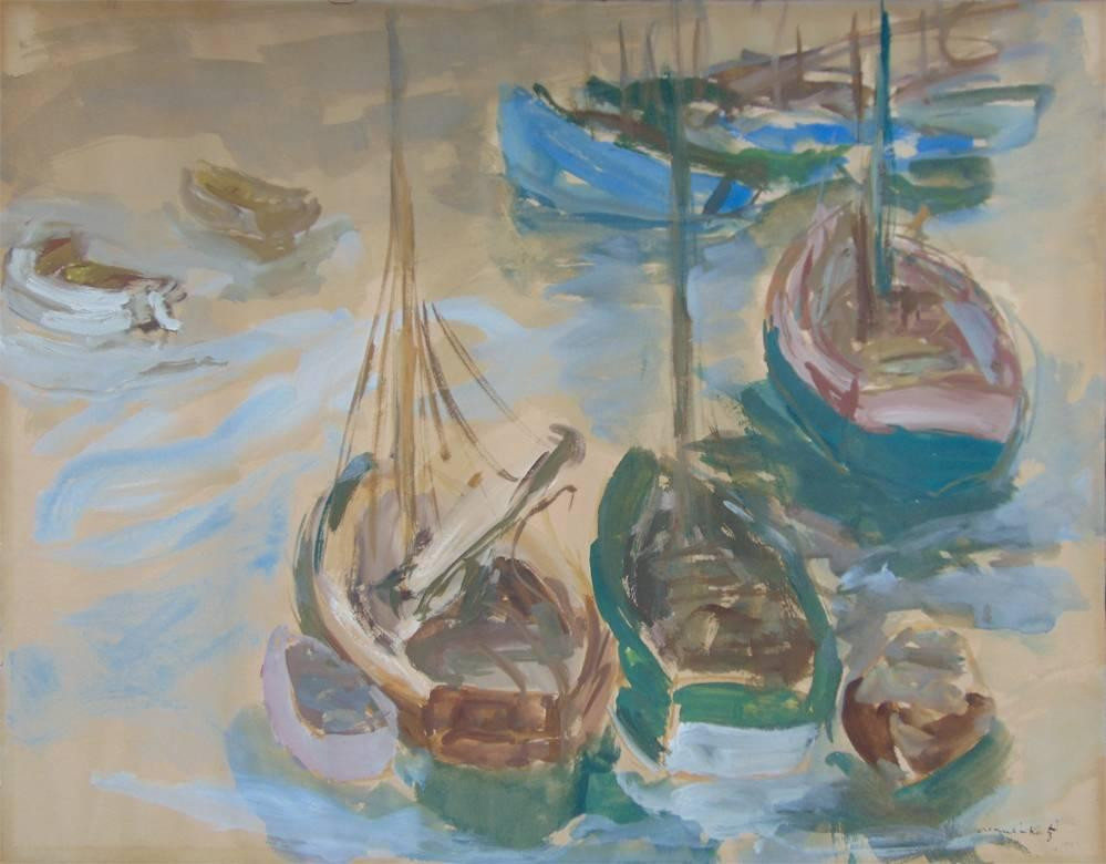 Boats in the Harbour - Seaside Maritime