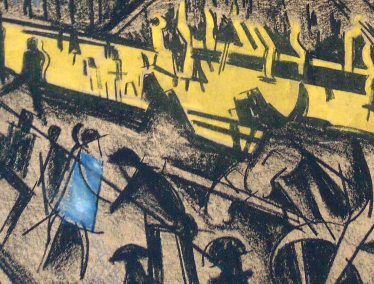The Rhythm of the City - Cubist Art by Hugó Scheiber