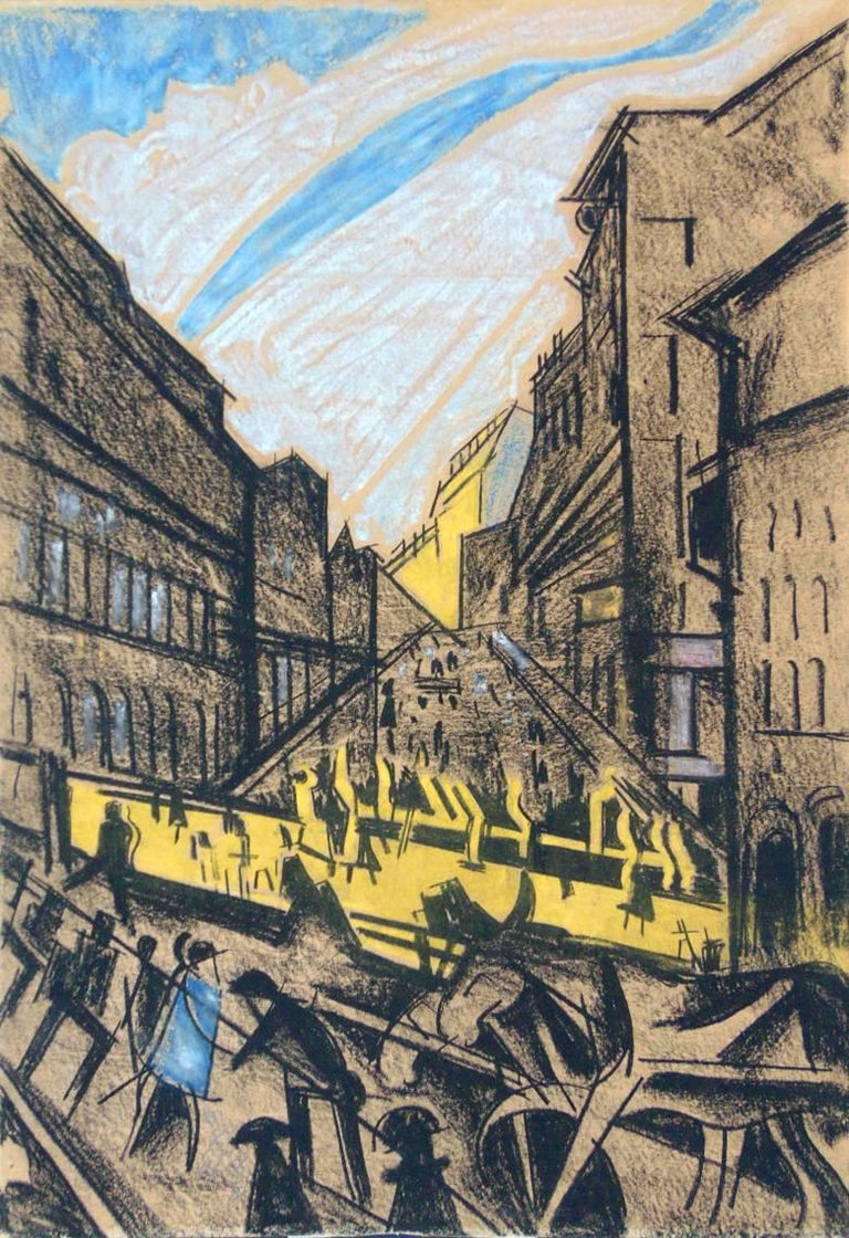 Hugó Scheiber Landscape Art - The Rhythm of the City