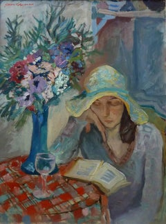Woman in an Interior Reading a Book