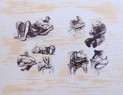 Henry Moore - Eight Sculptural Ideas Girl Writing