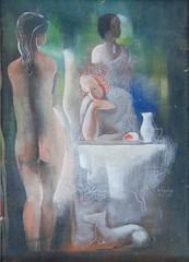 Three Women by the Table