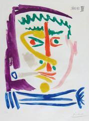 Pablo Picasso - Smoker III  Fumeur III