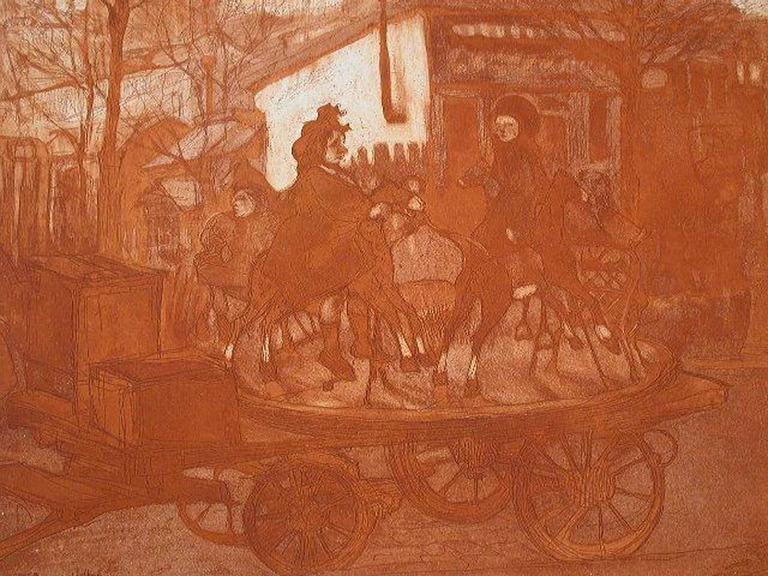 jacques villon man ge rue caulaincourt ou le petit man ge aux chevaux de bois print for sale. Black Bedroom Furniture Sets. Home Design Ideas