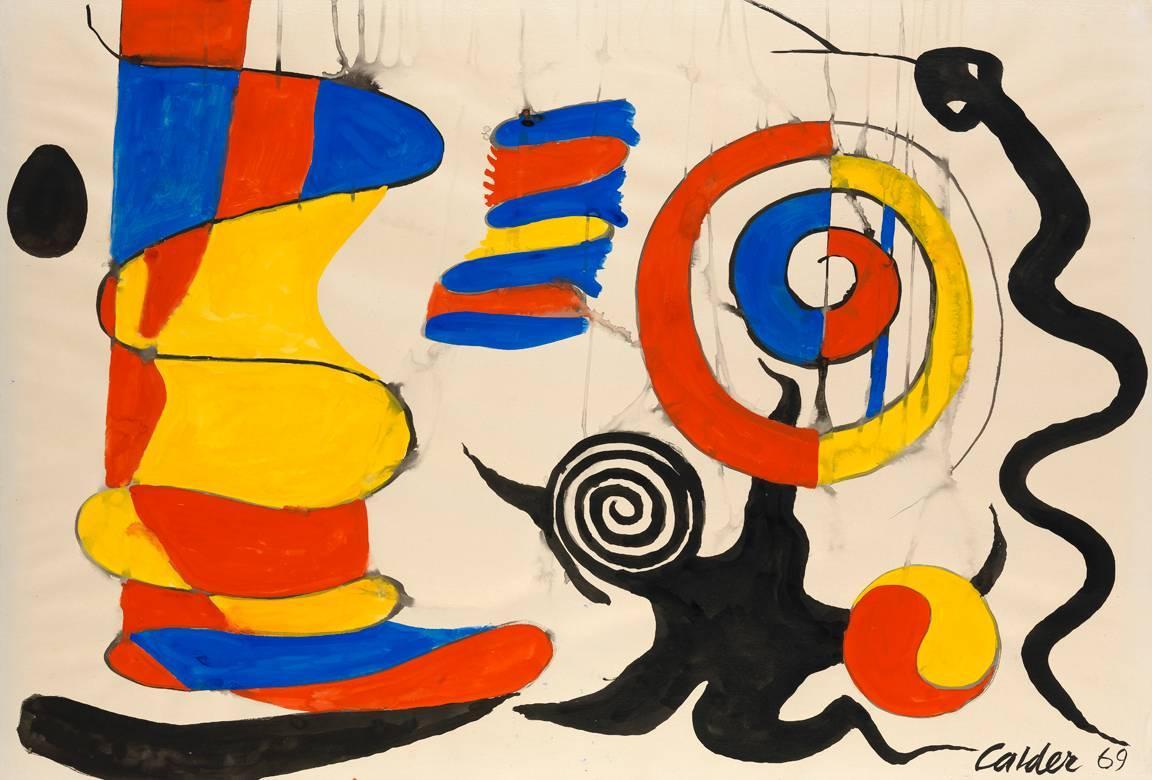 Kinetic Drawings and Watercolor Paintings