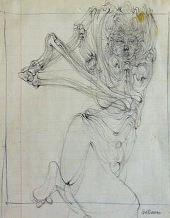 Woman with Skeleton  Femme au Squelette