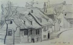 Street in Weimar  Strasse in Oder um Weimar