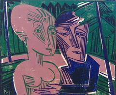 People in the Forest (Couple in the Forest)  Menschen im Wald  (Paar im Wald)