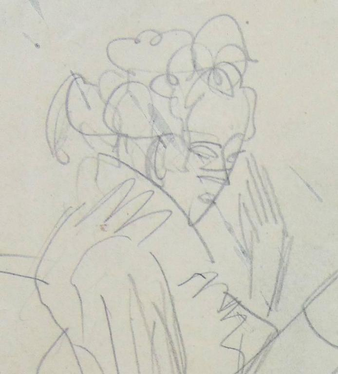 Standing Woman and Sewing Girl  Stehende Frau und nähendes Mädchen - Art by Ernst Ludwig Kirchner